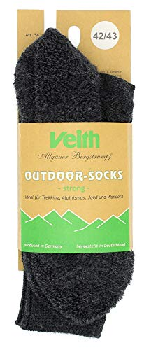 Veith Outdoor Socks Strong Wintersocken - Anthrazit (Anthrazit, 36/37)