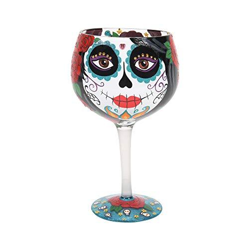 Enesco Designs by Lolita Copo de coquetel artesanal Copa Dia dos Mortos 680 g, multicolorido