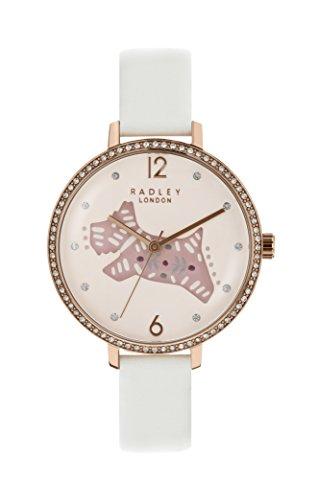 Radley Armbanduhr, kreidefarbenes Lederband, rosévergoldeter Edelstahl, bedrucktes Zifferblatt, RY2584