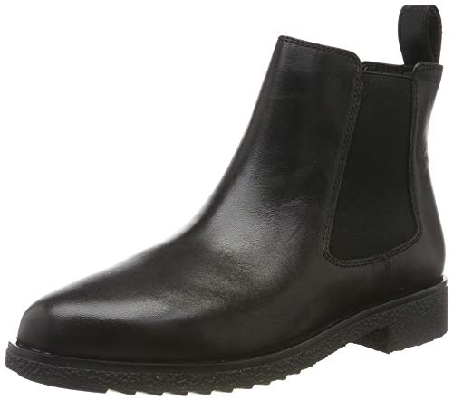 Clarks Damen Griffin Plaza Chelsea Boots, Schwarz (Black Leather), 39.5 EU