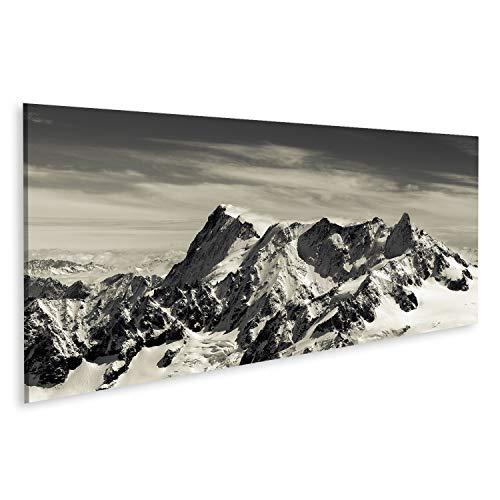 Bild Bilder auf Leinwand Mont Blanc in den französischen Alpen Wandbild, Poster, Leinwandbild QLU