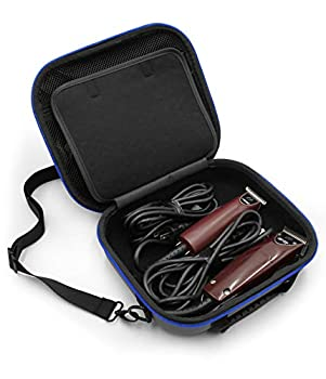 CASEMATIX Hair Clipper Barber Case Holds Clippers Hair Buzzers Trimmers T Finisher Liner - Travel Case For Clippers Stylist and Hair Cutting Supplies With Adjustable Strap