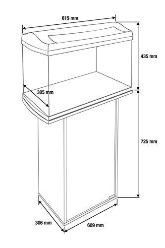 Tetra Aquarienunterschrank anthrazit für Tetra AquaArt Aquarien , 60 Liter (Discovery Line, mit Stauraum für Technik, Milchglasscheibentür und praktischem Führungsloch für Kabel und Schläuche) - 3