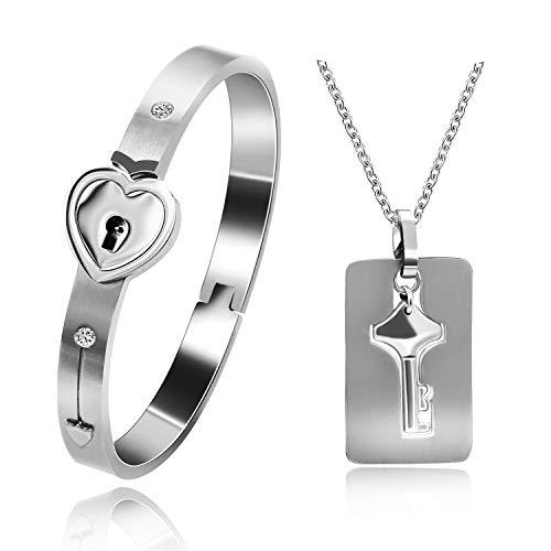Uloveido für Sie und Ihn Passendes Set Paar Titan Stahl