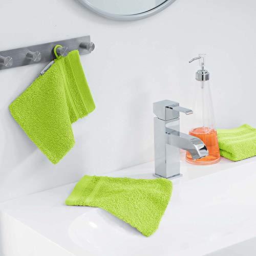 douceur d'intérieur 2 gants de toilette 15x21 cm eponge vitamine anis