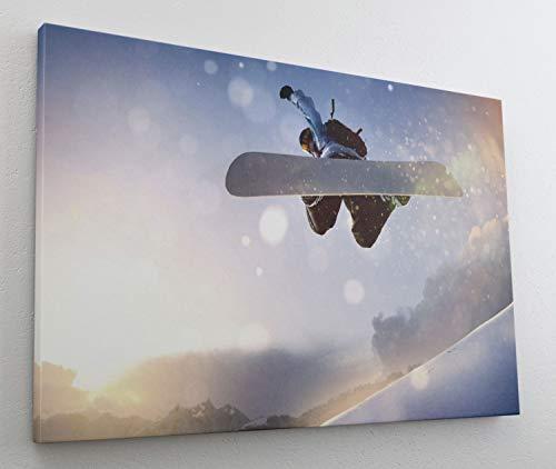 Snowboard Sportart Schnee Leinwand Bild Wandbild Kunstdruck L1294 Größe 70 cm x 50 cm