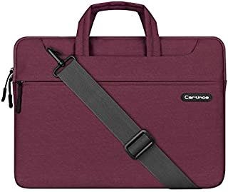 Yhuisen 14-15.4 inch Business Style Women Men Laptop Shoulder Bag Laptop Briefcase Tablet Protective Bag Waterproof Computer Sleeve Case Messenger Bag (Color : Purple, Size : 14-15.4inch)