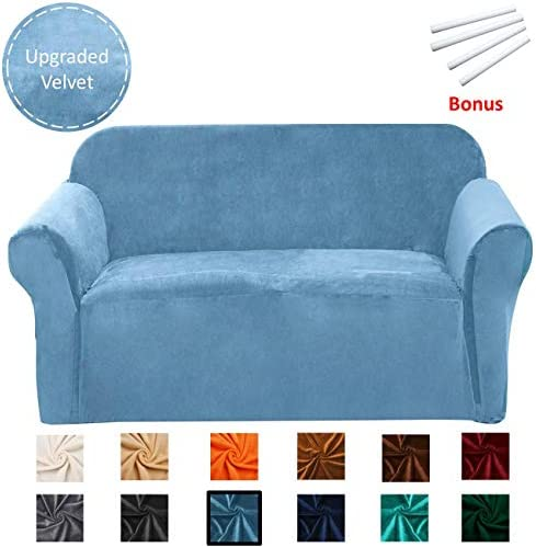 Best Argstar Velvet Stretch Couch Slipcovers, Washable Strapless Sofa Protector and Elastic Couch Covers