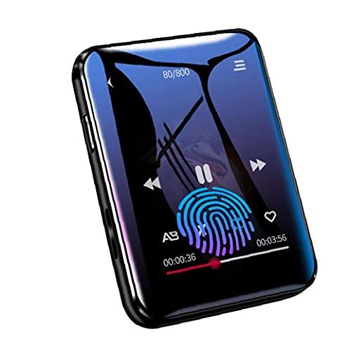 Tuimiyisou MP3 acústica Bluetooth Reproductor de música con 8G de Almacenamiento de Pantalla táctil Completa fácilmente Llevado FM Radio grabadora de música Reproducción Negro