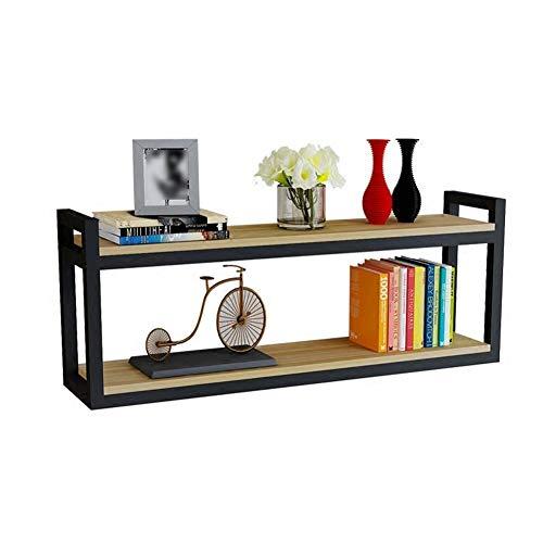 CYGJLYZ Madera de Pared estantes de exhibición de Almacenamiento bookd Fondo de la Pared Industrial (Color : B, Size : 90x30x20cm)