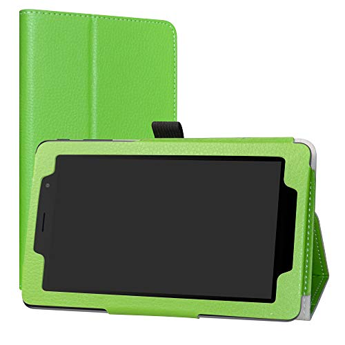 LiuShan Alcatel 1T 7 inch hülle, Folding PU Leder Tasche Hülle Case mit Ständer für 7