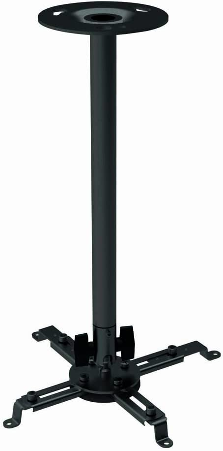 Black adjustable ceiling mount bracket for Epson PowerLite Home Cinema 3020 projector