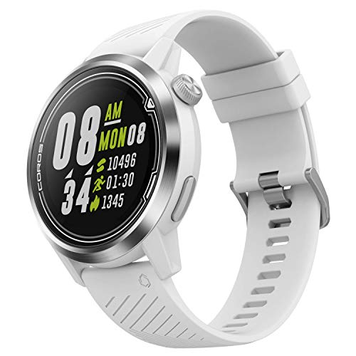 Coros APEX Premium Multisport GPS Watch with Heart Rate Monitor, 35h Full GPS Battery, Sapphire Glass, Barometer, ANT+ & BLE Connections, Strava & Training Peaks (White|46mm)
