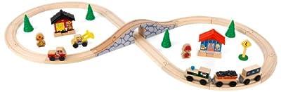KidKraft Figure 8 Train Set, Natural