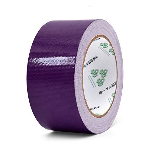 10 m x 50 mm gekleurde tape van stof, sterk waterafstotend, streepvrij, hoge viscositeit, tapijt, decoratie om zelf te maken. 10M Paars