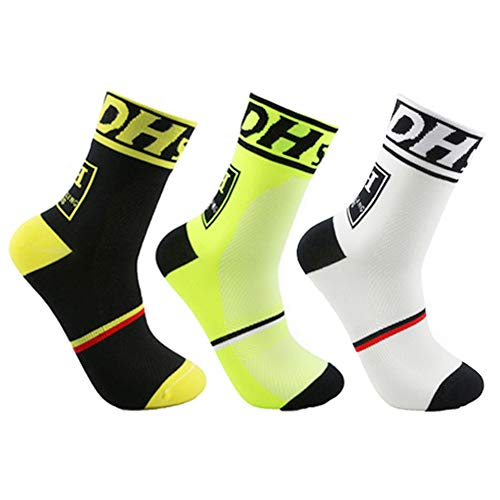 Mens Cycling Socks Sports Socks Running Socks Size 6-10.5 (Black, Green, Blue, US mens size 6-10.5) bike socks cycle socks men women athletic socks boys socks bike