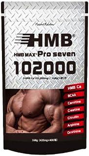 【102,000mg配合】HMB MAX PRO seven 400粒 HMB 100,200mg & BCAA クレアチン シトルリン アルギニン サプリメント