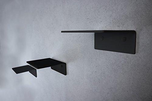 trelixx® Katzentreppe | Katzenleiter | aus schwarzem Acrylglas | dreistufig | 14x15cm | für kleine Katzen bis 5kg | ohne Korkauflagen | leichte Montage | großartiges Design | Aufstiegshilfe