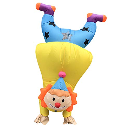 HHaoRun Inflatable Costume Handstand Clown Halloween Easter Party Costumes Adult Fancy Cosplay Dress, Large