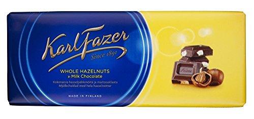 Fazer Milk Chocolate With Whole Hazelnuts (200g)