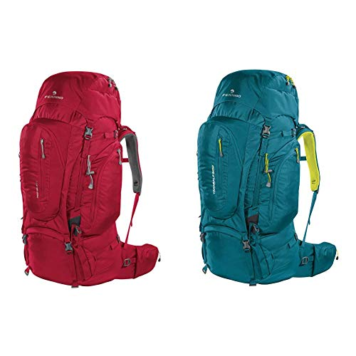 Ferrino Transalp 60, Zaino Da Hiking Unisex, Rosso, 60 L & Transalp, Zaino Da Hiking Ed Escursionismo Unisex, Verde, 60 L