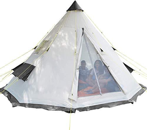 Partyzelt für 6 Personen Zelt Festival Tipi Wigwam 250 cm Tall Insektenfrei mit eingenähtem Bodenblech 3000 mm Wassersäule