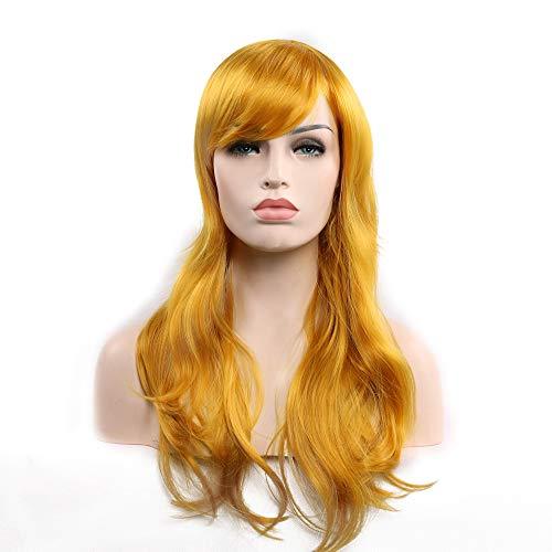 Licy Life-UK Perruque Cheveux Nouveau Féminin Bouclés Ondulés Glamour Perruque Cap Perruque Élastique pour Fête Party Cosplay 70/80CM