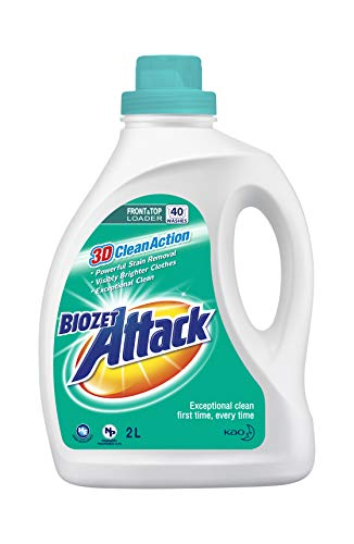 Biozet Attack Regular Laundry Liquid Detergent, 2 liters