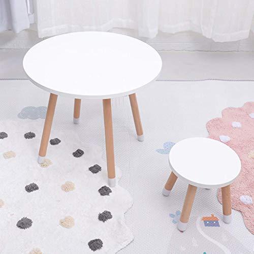 XGGYO Étudiant En Bois Deskand Chair Set, Pour 2-8 ans Playroom Activité Tableau D'Accueil, Enfants, Salle de Jeux, Salon/Blanc