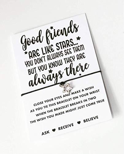 Friends wish string bracelet! Good friends are like star gift!