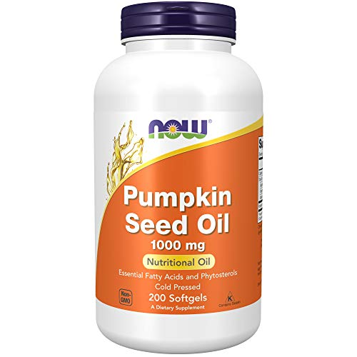 Now Foods Pumpkin Seed Oil 1000 Mg with Essential Fatty Acids and Phytosterols, Cold Pressed, Softgels, 200 Count (30733739018435)
