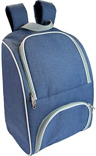 ONVAYA Kühlrucksack | 14 Liter Fassungsvermögen | blau | 460 g | Extra-Frontfach | Trageschlaufe | Jeans-Look | für Picknick Camping Wandern | ca. 41 x 28,5 x 19 cm