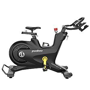 pooboo Commercial Stationary Bike Magnetic Resistance Belt Drive Bike Exercise Bike Indoor Cycling Bike