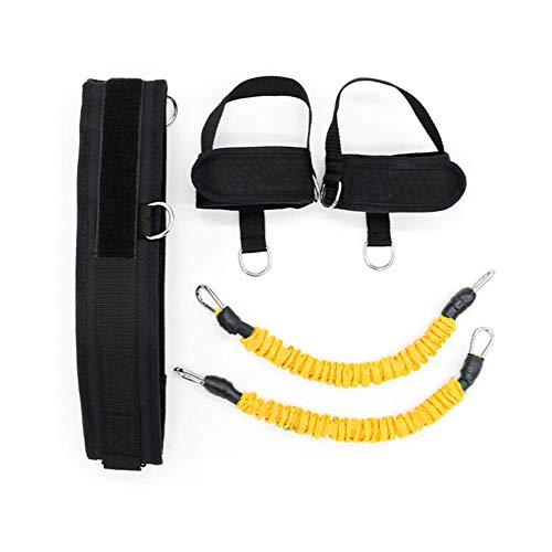 ZEH Bounce Trainer Pull-Seil-Widerstand-Bänder Basketball Fußball Laufen Jump Trainer Beinkraft Beweglichkeit Trainingsband, schwarz FACAI (Color : Yellow)