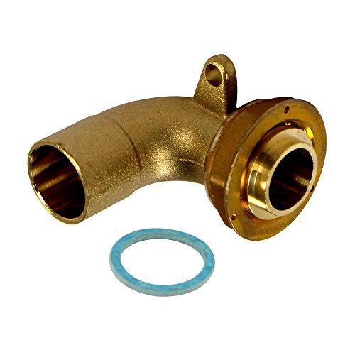 Gurtner - Raccord gaz naturel - Raccord coudé 90° JPC + fixation écrou 6/20 à braser sur tube cuivre Ø22