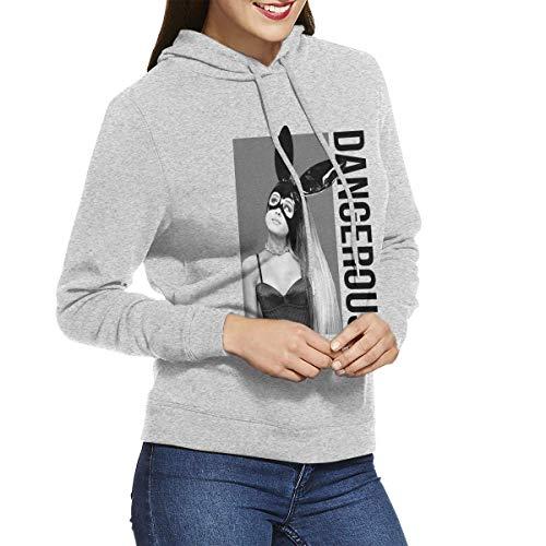 Kmehsv Damen Kapuzenpullover Aria-NA Dangerous Woman AG Casual Long Sleeve Kapuzenpullover Adjustable Drawstring Hooded