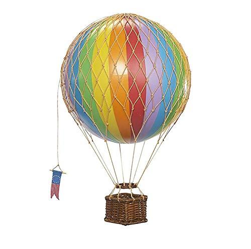 Authentic Models - Dekoballon - Jules Verne - Heißluftballon, Ballon - Farbe: Regenbogen - 18 cm