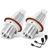 YITAMOTOR 2x 7w Spot Angle Eye LED Halo Ring White Lights Bulbs Compatible for BMW US E39 E53 E61 E60