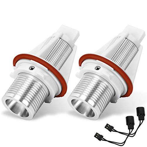 YITAMOTOR 2x 7w Spot Angle Eye LED Halo Ring White Lights Bulbs Compatible for BMW US E39 E53 E61 E60
