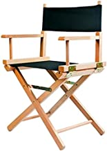 Outdoor folding chair Silla IAIZI Madera Director Silla de Maquillaje Plegable Cubierta Exterior de jardín y de Peso Ligero montado Completamente En Negro