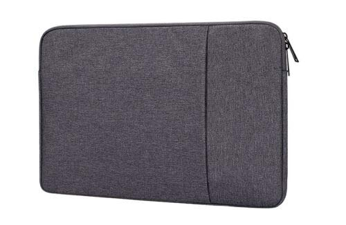 DOT. Laptop Sleeve Compatible with Dell Inspiron 15 3000 15.5' and Any Other 15.5-16 inch Notebook MacBook Chromebook Protective Vertical Soft Carrying Case Cover - Charcoal Grey