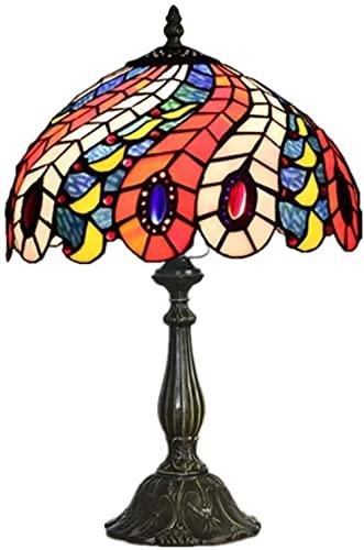 Lámpara de mesa decorativa romántica romántica de la boda europea Sala de estar Sala de estar Dormitorio Personalización de la casa de resina de 16 pulgadas base | Interruptor de gradación