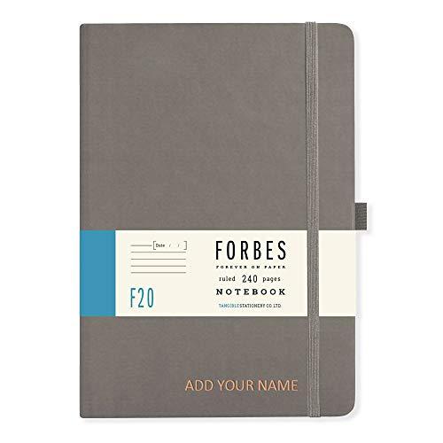 Forbes - Taccuino Classico - A5 a Righe - Grigio - Personalizzabile