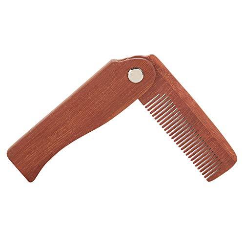 Peine para barba plegable antiestático de bolsillo, peine para bigote, peine de madera para peinar, peine para dar forma al bigote, herramienta de salón