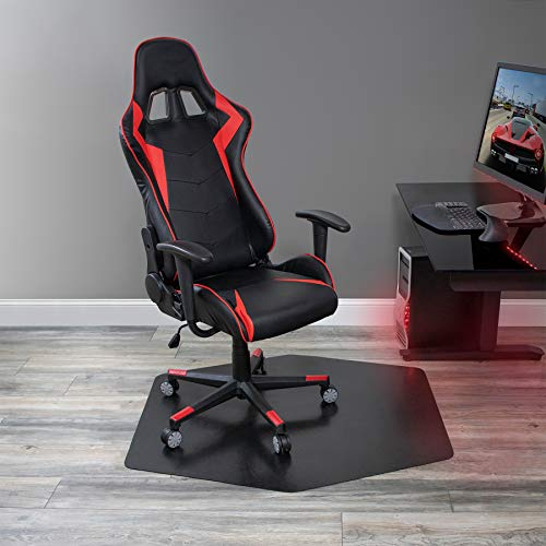 """ES Robbins Game Zone Chair Mat, 42"""" x 46"""", Black chair gaming"""
