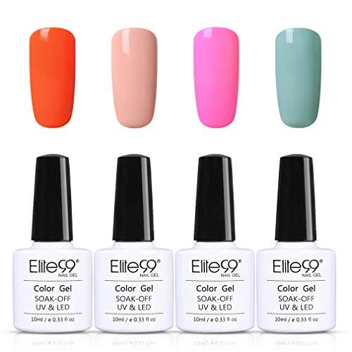 Elite99 4 kleuren Macaroon Nagellakset UV nagellak gel nagellak, uv-led, kleuren set voor nail design gel polish, soak off gel nagellak voor nail art 006