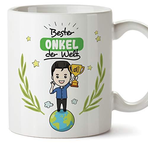 Mugffins Onkel Tasse/Becher/Mug - Bester Onkel der Welt - Schöne und lustige Kaffeetasse als Geschenkidee für Onkel. Keramik 350 mL