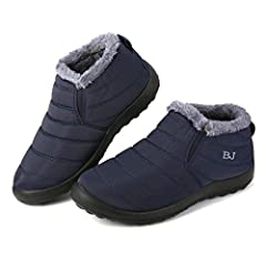 ✔ Material & Quality : The snow boots are waterproof upper,rubber sole and fully fur lining,suitbale for winter and outdoor. ✔ Fasion Brand : Fashion sneaker with warm fur lining design,not only can keep your feet warm in freezing winter,but also wit...