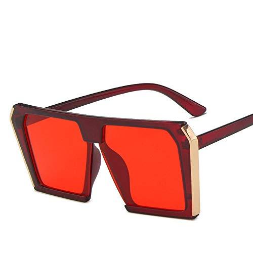 Gafas De Sol Hombre Mujeres Ciclismo Gafas De Sol Clásicas para Mujer, Montura Cuadrada, Gafas De Sol para Hombre, Color Burdeos