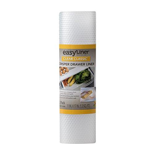 Duck Brand Clear Classic Easy 286014 Refrigerator Shelf...